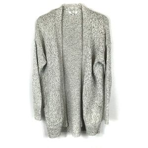 Madewell Gray Long Open Front Cardigan Pockets XXS